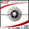 High Performance Two Pieces Carbon Cross Drilled and Slotted Brake Rotor (PJCBD007)