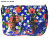 Satchel Bag in Flower DOT Print with PVC Coating (SAT-003)