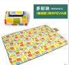 Wholesale Colorful Squares Microfiber PEVA Pincnic Blanket
