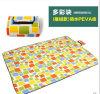 Wholesale Colorful Squares Microfiber PEVA Pincnic Blanket