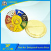 7years Factory Professional Customized Metal Gold Plated Souvenir Coin with Any Design (CO35-A)