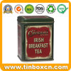 Rectangle Tin Canister Metal Tea Caddy for Irish Breakfast Tea