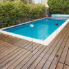 Apartment Swimming Pool Fence Aluminum U Channel Frameless Glass Railing