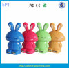 Portable Rabbit Cartoon Shape Power Bank with Keychain and Indicator