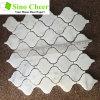 The High Quality Arabesque Carrara White Bianco Marble Mosaic Tile for Bathroom Floor