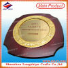 Casting Gold Plate Engraving Text Wooden Plaque Shield Plaque Award