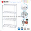 Adjustable Chrome Wire Shelving Rack, Metal Furniture (LD9035137A4C)