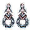 Fashion Bohemia Folk Style Earrings Long Retro Diamond Alloy Earrings