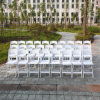 White Factory Resin Chair Folding Chair