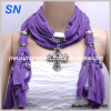 2014 New Fashion Metal Cross Pendant Scarf (SNSMQ1049)