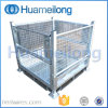 Heavy Duty Galvanized Warehouse Foldable Stacking Steel Pallet Cage