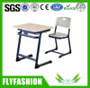 Melamine Board Single Student Desk with Chair School Furniture