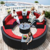 Outdoor Hotel Leisure Club Creative Round Semicircle Combination Rattan Sofa