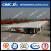 40FT 2axle Strengthened-Beam Flatbed Trailer Exported