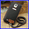 Neck Strap Real Leather Case for Samsung Galaxy S4 I9500