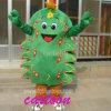 Movable Christmas Tree Fur Mascot Costume for Xmas.