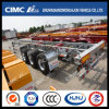 48FT Cimc Huajun Aluminium-Steel Light-Duty Skeleton Container Trailer