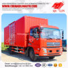 Red Color Dry Cargo Box Truck with 2 Side Doors