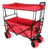 Collapsible Folding Outdoor Utility Wagon Sports Green Garden Cart