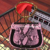 2017 Luxury Women Handbags Designer Real Leather Bags Metal handle Shoulder Bags with Snake Pattern Emg5101