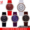 Vs-123 New Ladies Fashion Crystal Stone Face Design Non-Toxic Silicone Band Women Dress Quartz Watch