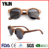 Fashionable Ynjn Half Frame Polarized Wood Sun Glasses