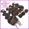 Free Parting 100% Peruvian Virgin Hair Bundles with Lace Closures