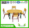 Kindergarten School Wooden Round Classroom Children Table with Chair