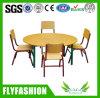 Kindergarten School Wooden Round Classroom Children Table with Chair