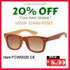 Colourfull Bamboo Sunglasses with Polarized Porized Lens