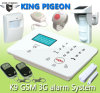 Spanish, French, Danish, Dutch, GSM Alarm System LCD Screen