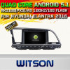 Witson Android 5.1 Car DVD GPS for Hyundai Elantra 2016with Chipset 1080P 16g ROM WiFi 3G Internet DVR Support (A5578)
