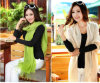 Hot Sale Cheap Ladies Vintage Cashmere Pashmina Shawl (MU6606-1)
