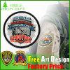 No MOQ Custom Embroidery Clothing Badge in Skull Design
