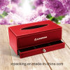 New Elegant High-End Custom PU Leather Paper Tissue Box