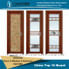Sanded Thai Pomelo Surface Aluminium Casement Doors for Interior Decoration