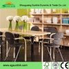 Wood Plastic School Furniture Set with Metal Steel Tube