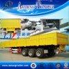 2 Axles Side Wall Open Semi Truck Trailer for Sale