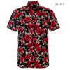 High Quality Men Clothes Shirts Vacation Beach Wear Hawaii Shirt Casual Button up Tropical Printed ...