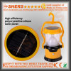 Solar Powered 8 LED Camping Lamp 1W Torch USB Outlet