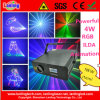 4W RGB 25k Ilda Animation Laser Light Logo Projector