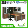 High Quality Office Furniture Wooden Staff Desk with Wall Cabinet (PT-63)