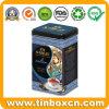 Food Packaging Square Metal Tea Canister Earl Grey Tea Tins