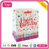Colorful Birthday Candle Cake Gift Coated Paper Cosmetics Shopping Bag