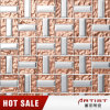 Rose Gold Color Metal Plating Mix Glass Mosaic