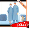 Factory Disposable Reinforced Spp/Spunlace/SMS/PP/Nonwoven/SMMS Sterile Visitor/Isolation/Surgical Gown
