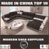 Italian Design Genuine Leather Sectional Bed for Villa Project