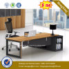 Black Powder Coating Metal Leg Wooden Top Office Desk (HX-6M421)