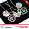 Wholesale Fashion Alloy Necklace with Round, Heart and Star Pendent