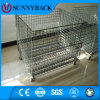 Heavy Duty Folding Stackable Steel Wire Mesh Container for Transportation Usage
